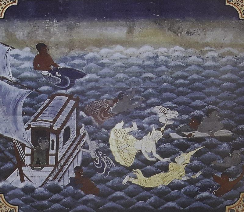 painting of Mahajanaka Jataka