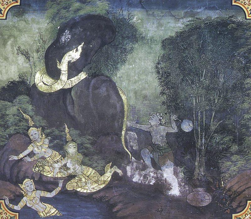 painting of Bhuridatta Jataka