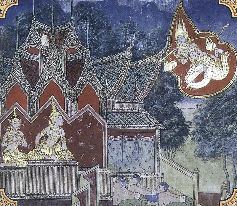 painting of Mahanaradakassapa Jataka