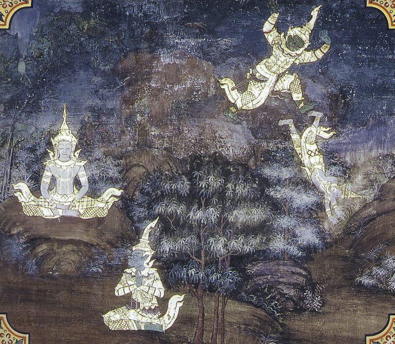 temple painting of Vidhurapandita Jataka