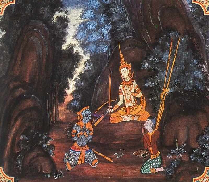 painting of Pancavudha Jataka