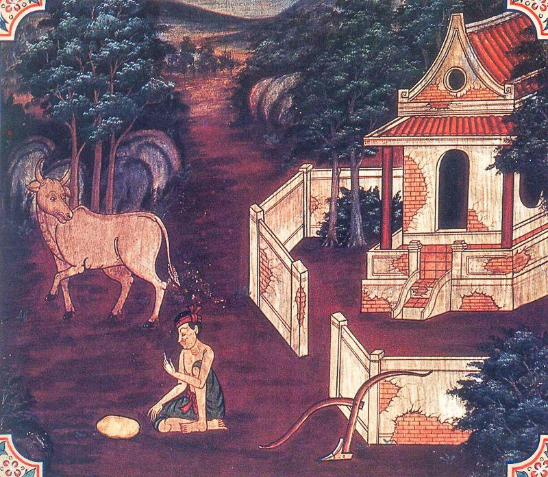 painting of Kancanakkhandha Jataka