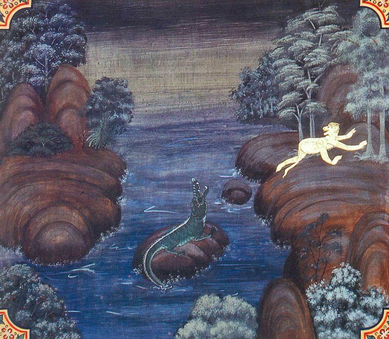 painting of Vanarinda Jataka