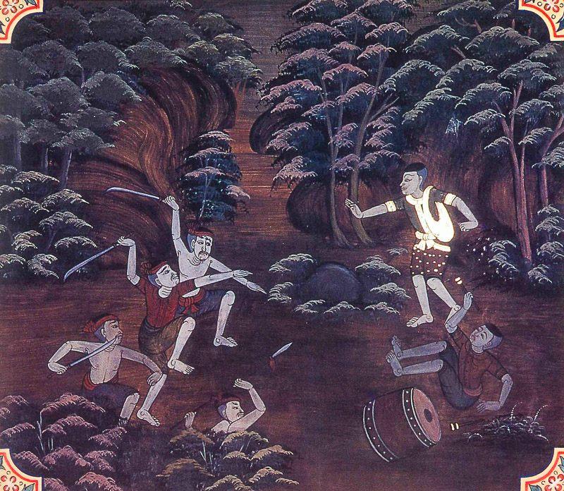 painting of Bherivada Jataka