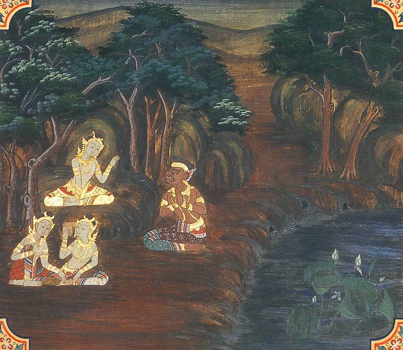 painting of Devadhamma Jataka