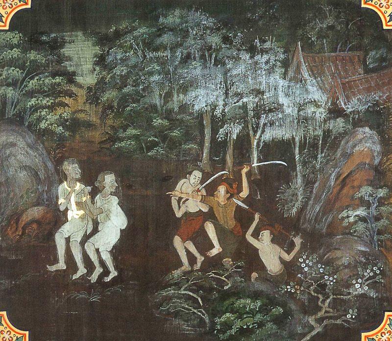 painting of Samkhadhamana Jataka