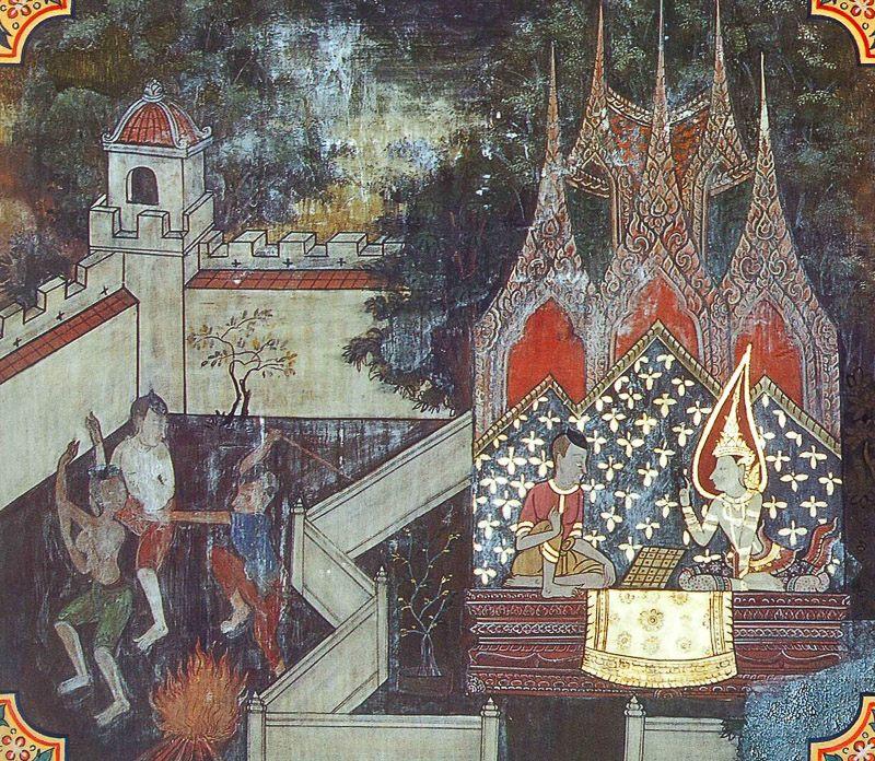 painting of Andabhuta Jataka