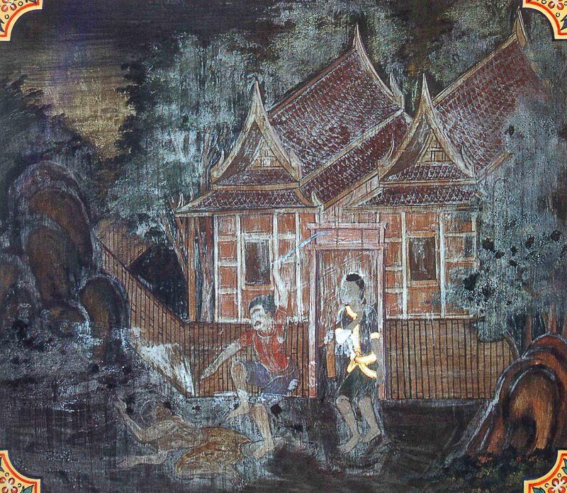 painting of Takka Jataka