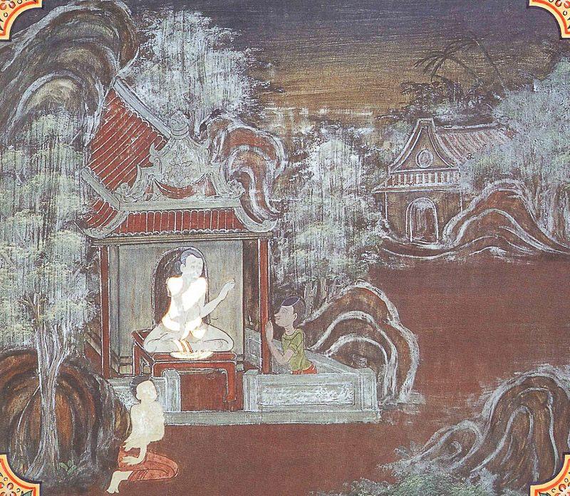 temple painting of Durajana Jataka