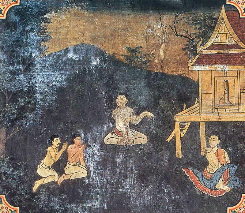 painting of Anabhirati Jataka