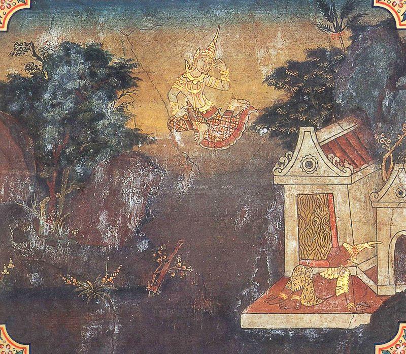 temple painting of Mudulakkhana Jataka