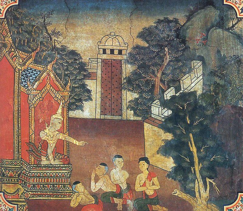 temple painting of Ucchanga Jataka