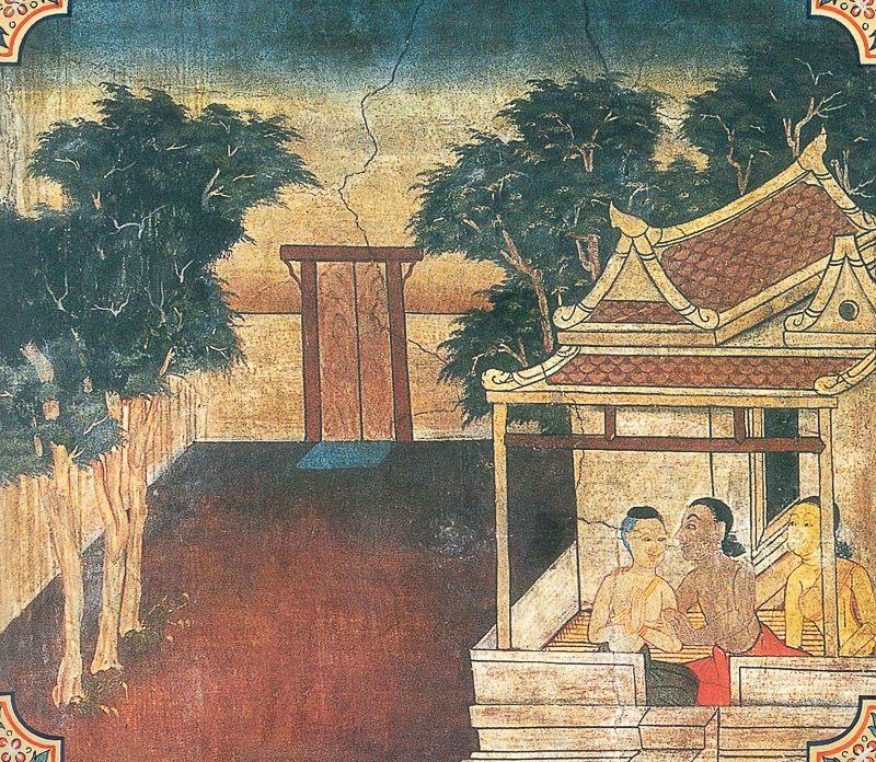 temple painting of Saketa Jataka