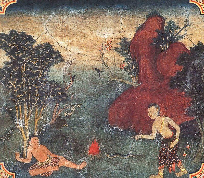 temple painting of Visavanta Jataka