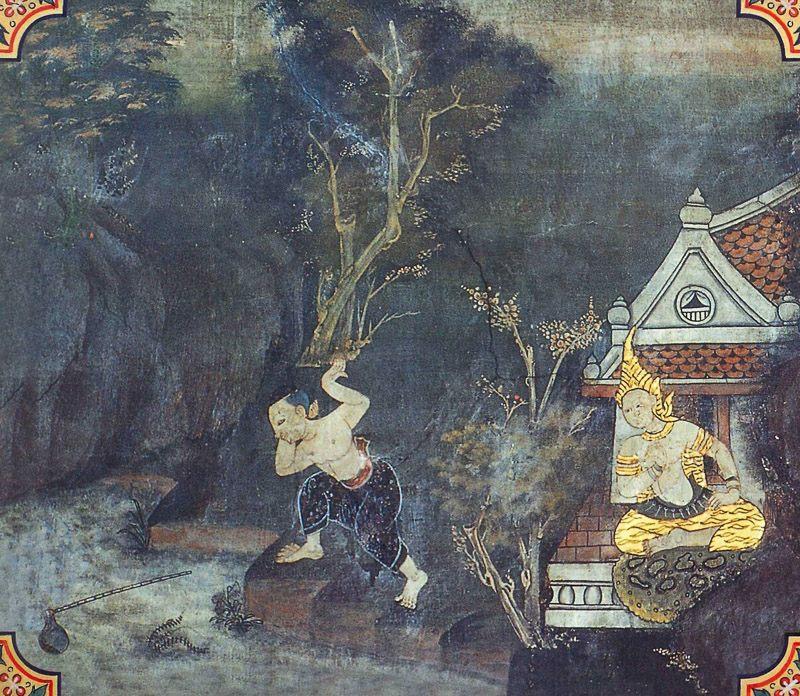 temple painting of Kuddala Jataka