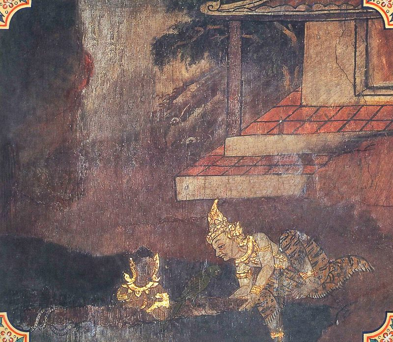 temple painting of Saccamkira Jataka