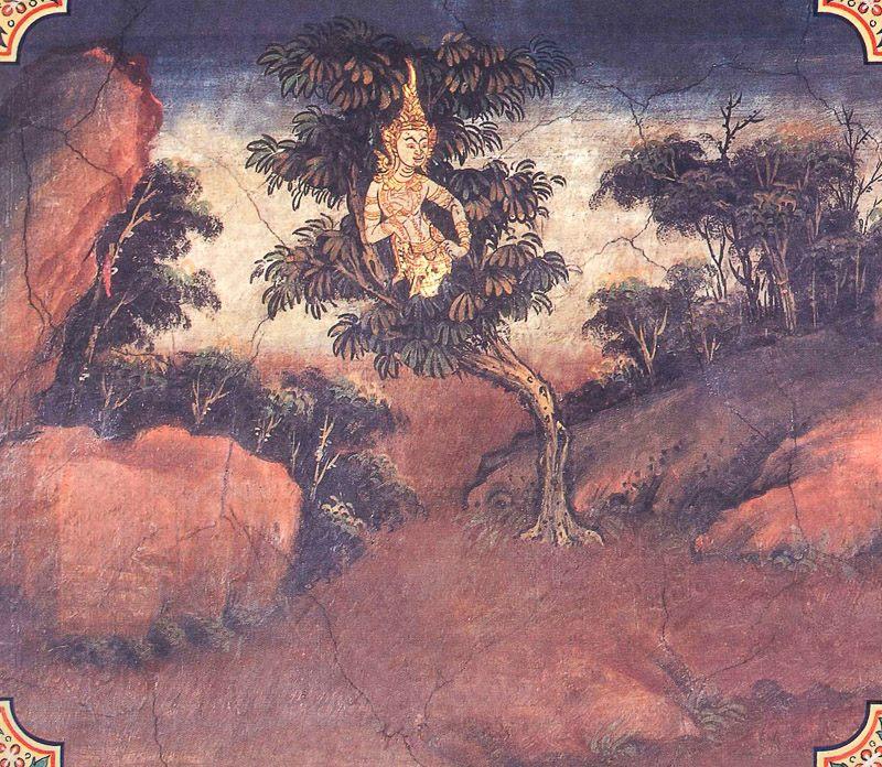 temple painting of Rukkhadhamma Jataka