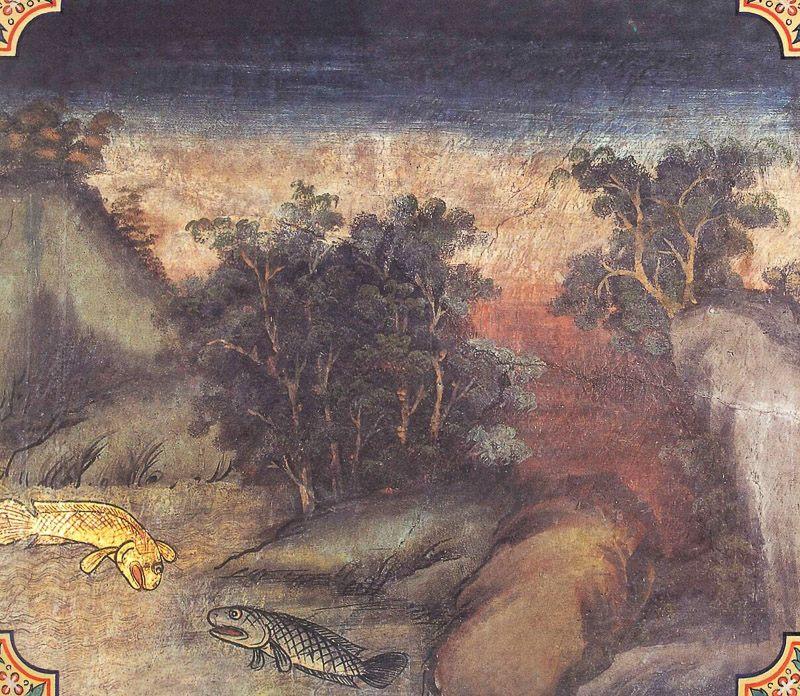 temple painting of Maccha Jataka