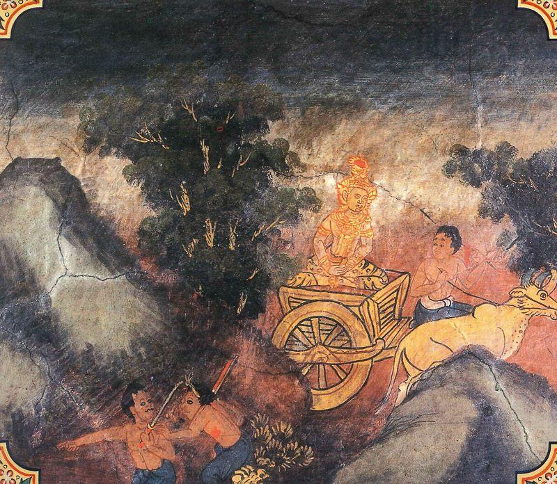 temple painting of Asamkiya Jataka