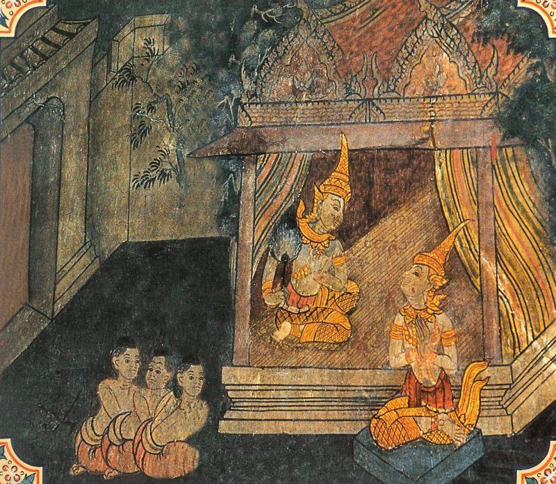 temple painting of Mahasupina Jataka
