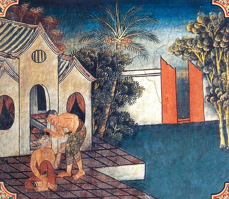 temple painting of Illisa Jataka