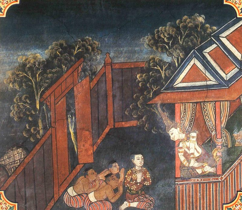 temple painting of Kharassara Jataka
