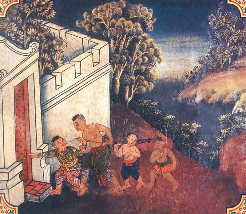 temple painting of Bhimasena Jataka