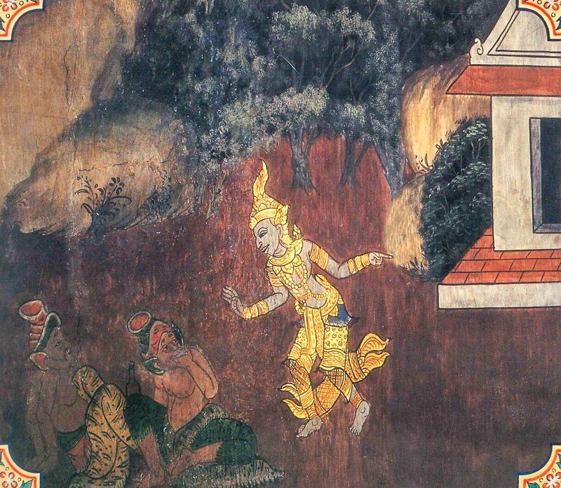 temple painting of Surapana Jataka
