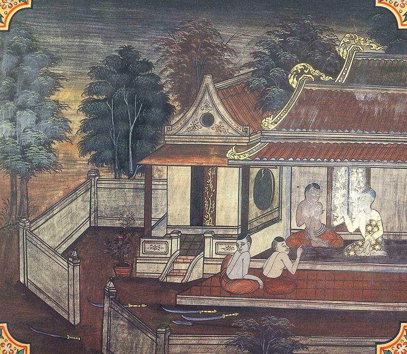 temple painting of Kalakanni Jataka