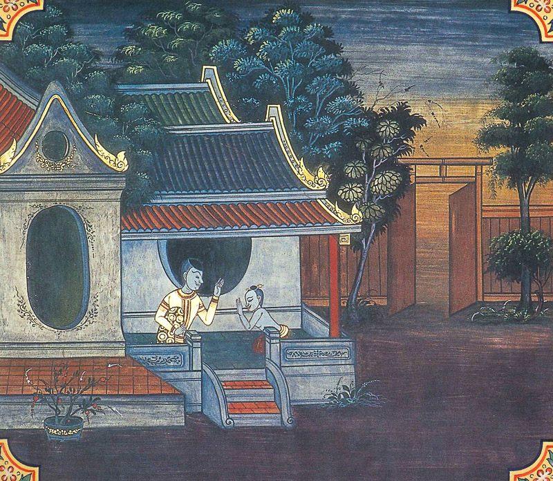 temple painting of Atthassadvara Jataka