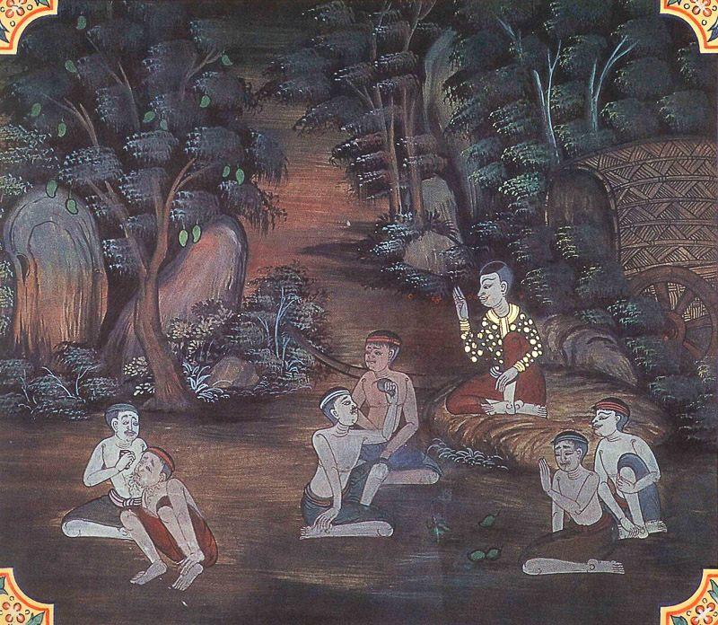 temple painting of Kimpakka Jataka