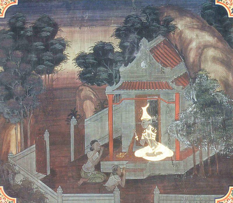 temple painting of Mamgala Jataka