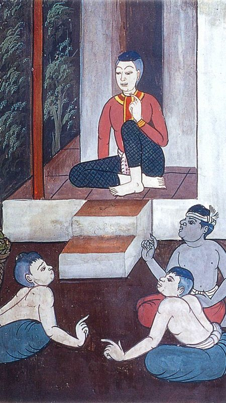 temple painting of Akatannu Jataka