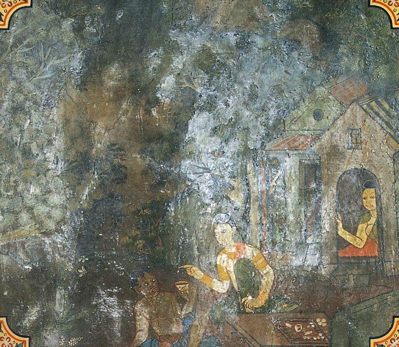 temple painting of Litta Jataka