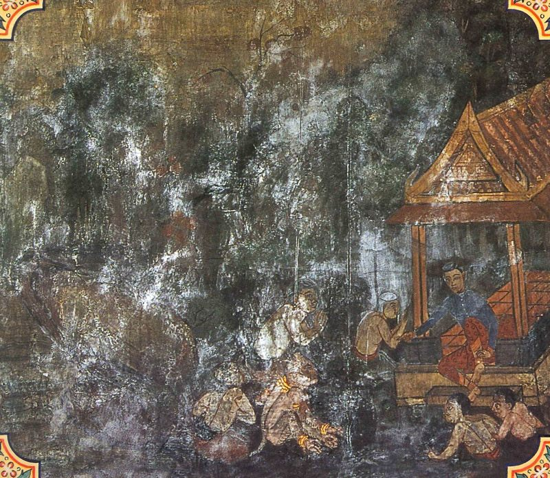 temple painting of Mahasara Jataka
