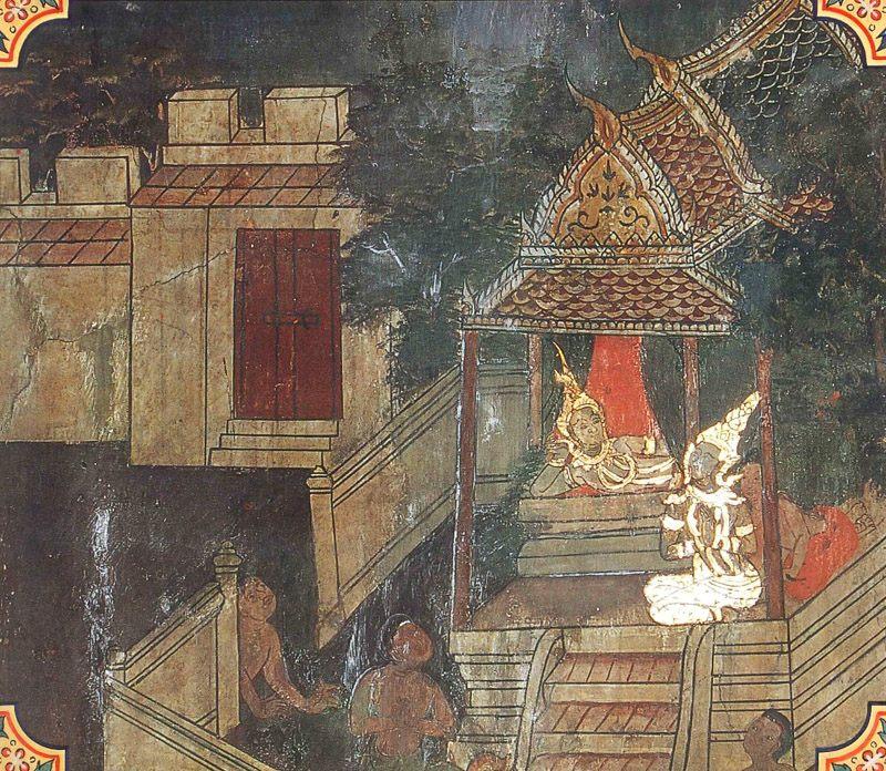 temple painting of Mahasudassana Jataka