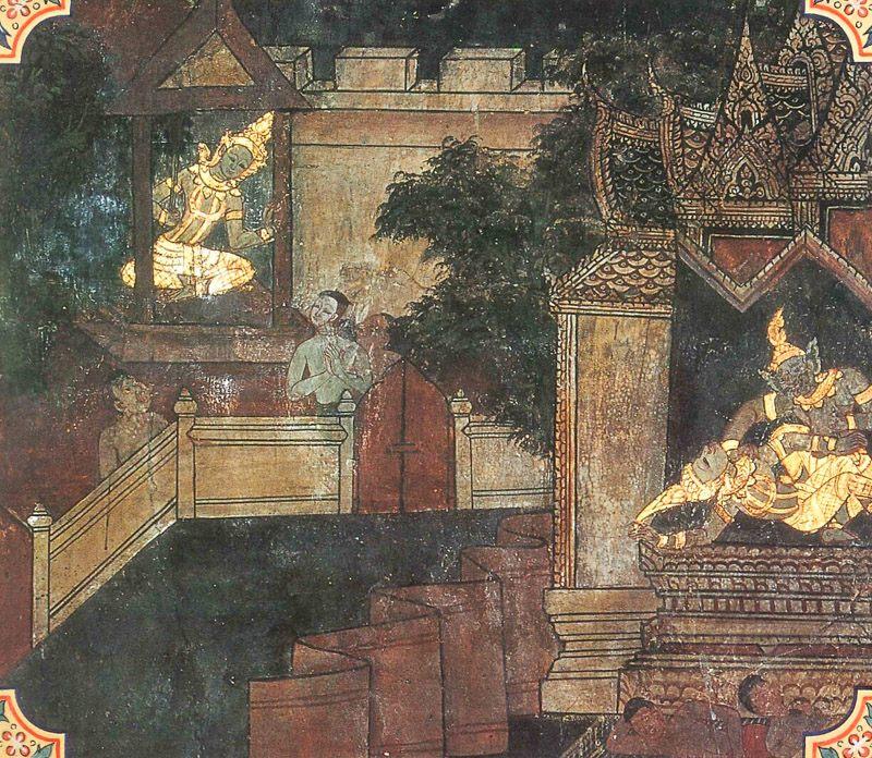 temple painting of Telapatta Jataka
