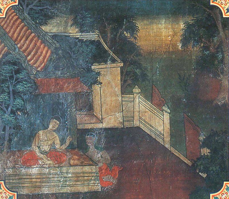 temple painting of Namasiddhi Jataka