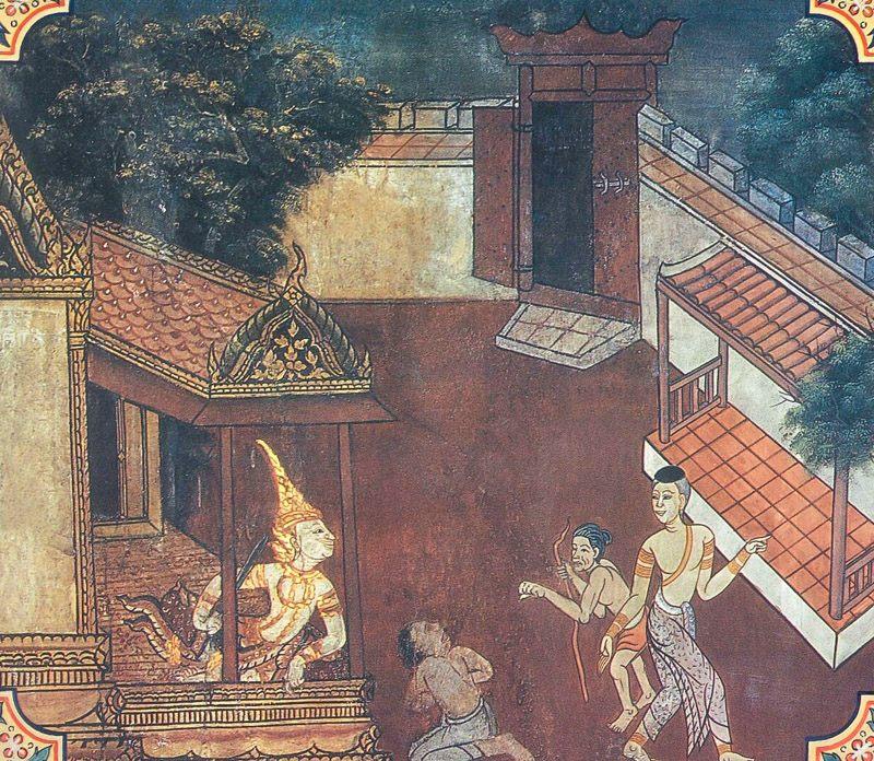 temple painting of Salittaka Jataka