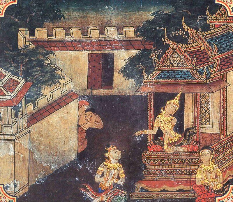 temple painting of Asilakkhana Jataka