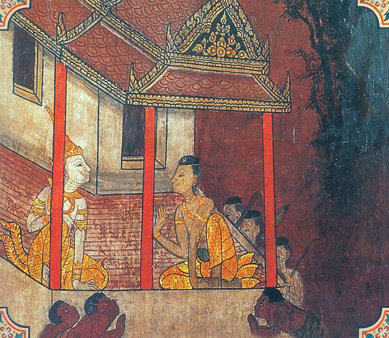 temple painting of Kosiya Jataka
