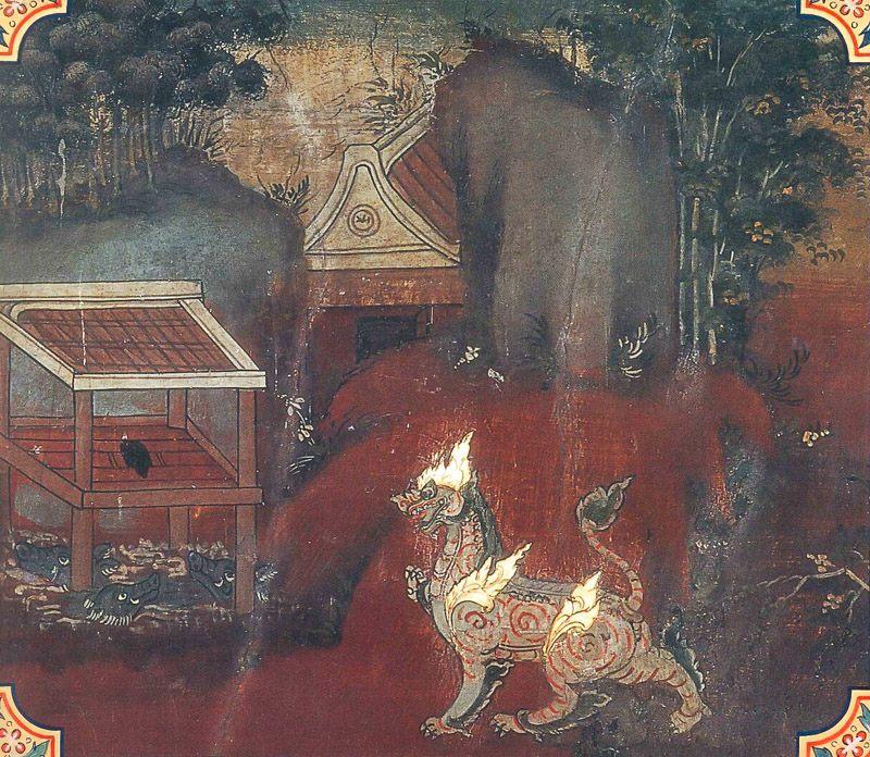 temple painting of Sukara Jataka