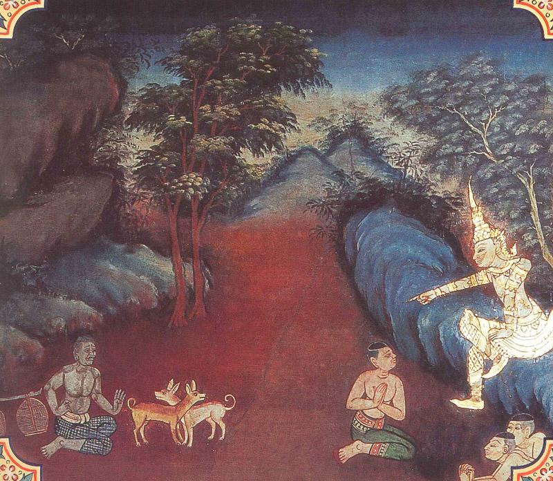 temple painting of Suhanu Jataka