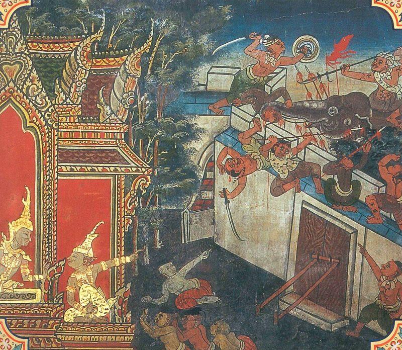 temple painting of Asadisa Jataka