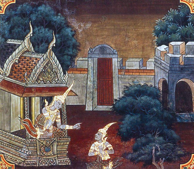 temple painting of Dadhi-Vahana Jataka