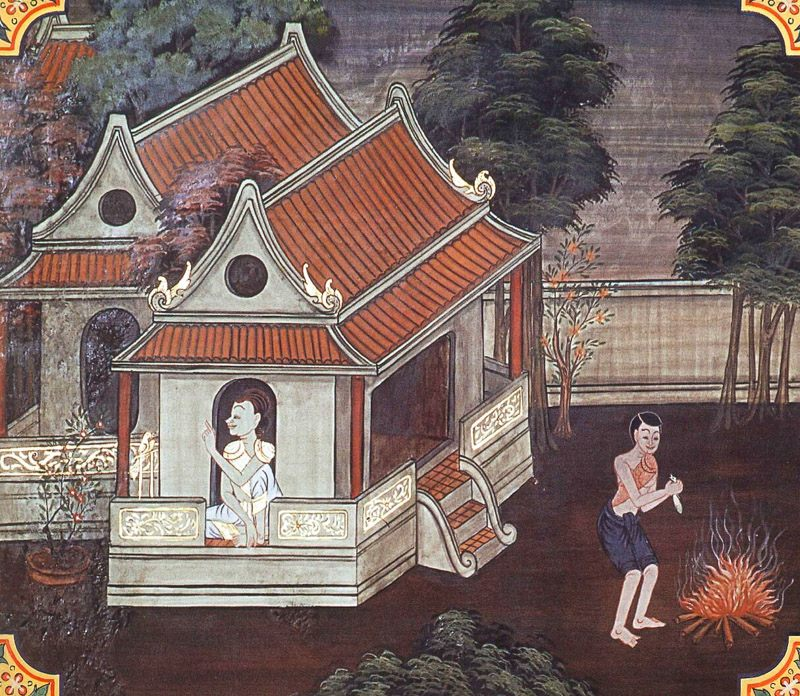 temple painting of Radha Jataka