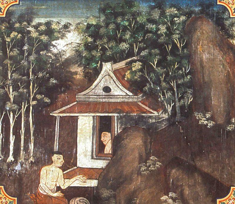 temple painting of Ucchittha-Bhatta Jataka