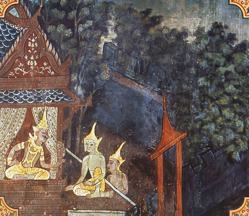 temple painting of Bharu Jataka