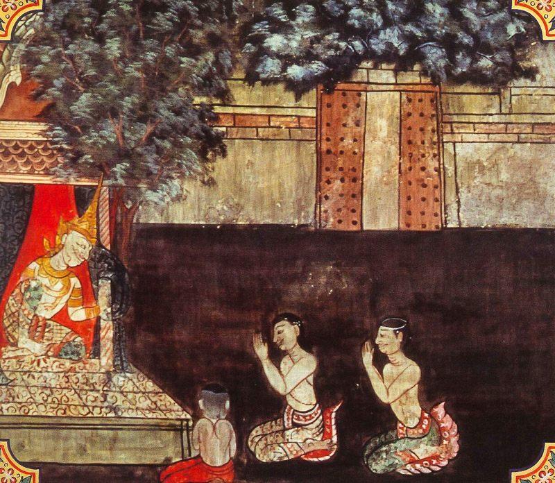 temple painting of Punna-Nadi Jataka