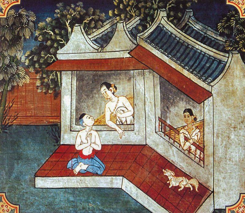 temple painting of Ekapada Jataka